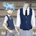 OHCOS 2016 Hot Japanese anime Asesinato Aula Shiota Nagisa Cosplay uniforme escolar de un conjunto
