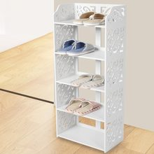 5 Tier Shoe Storage Rack White Hollow Out Shoe Rack Stand Storage Organiser Shelf(China)