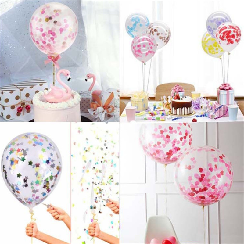 Cake Decoration Balloons 1PC 5 Inch Sequin Balloon Cake Topper Birthday Party Supplies Wedding Decoration Baby Shower Favors-S