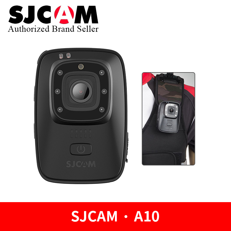 SJCAM A10 caméra d'application de la loi portable ir-cut B/W commutateur Vision nocturne lampe Laser Action infrarouge Cam 2650 mAh batterie