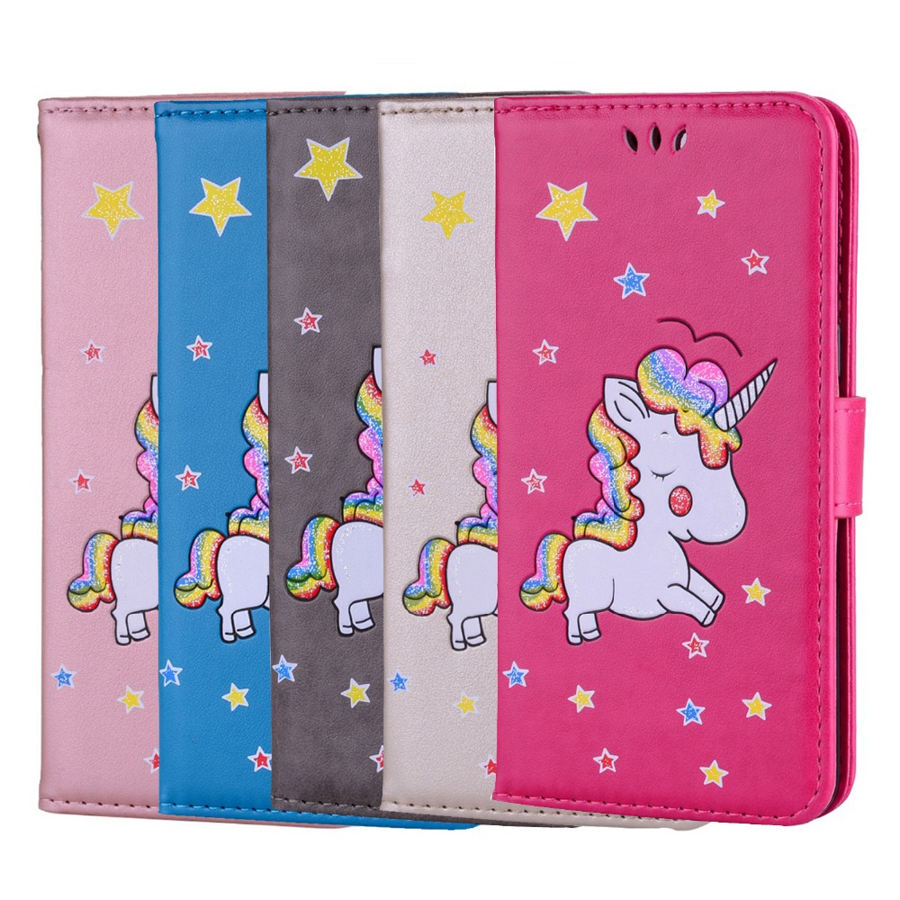 The Unicorn Case For Apple iPhone 7 Plus 7Plus Cover Magnet Flip Phone Wallet leather Case For iphone7 Plus iphone7plus Coque