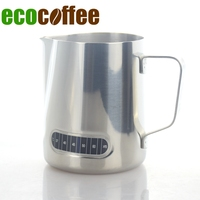 Ecocoffee New Milk Frothing Pitcher Stainless Steel Milk Espresso Steaming Pitchers with Thermometer for Espresso Machines Late