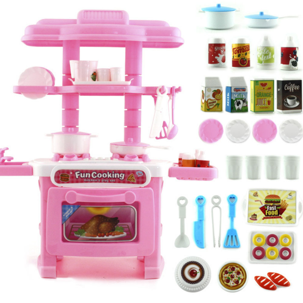 US $8.7 20% OFF|1 Set Children\'s Play House Toys Girl Cutlery Set Baby Toys  Kitchen Cooking Simulation Pretend To Play Kitchen Model-in Kitchen Toys ...