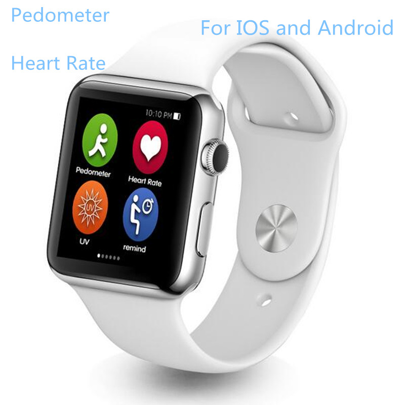 New Smart Watch IWO 1:1 Bluetooth Heart Rate Monitor Pedometer Adsorption Chargi