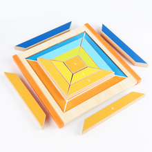 2019 newest Baby Wooden toys Learning & Educational Montessori toy preschool education Geometry Block Shape game for Children