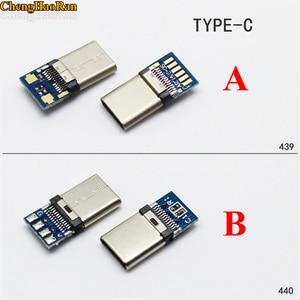 Image 1 - ChengHaoRan DIY OTG разъем для сварки, штекер, USB 3,1 Type C, разъем с печатной платой, вилки для передачи данных, клеммы для Android