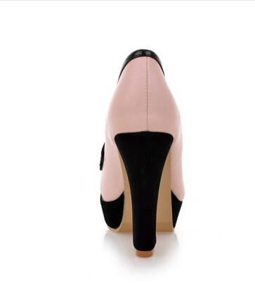 Europea blanco Ol Rosado Yardas Señora Color Zapatos Golpe Americana Suelas Con Grandes Baja Impermeables Primavera 15 De Gruesas Y Alta Boca Rqggw5