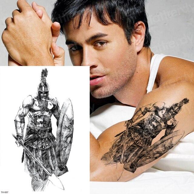 Temporary Tattoo Sticker Samurai Tattoos Men Arm Sleeve Tattoo
