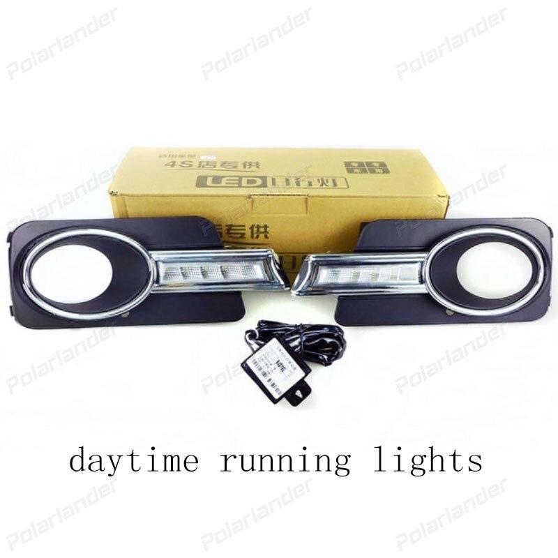 2 pcs for VW tiguan 5 pcs of Light 2010-2012 Daytime Running Lights Fog head Lamp car-styling white Daylight Waterproof rns510 rcd510 car rgb reversing video camera for vw tiguan a4 a7 s6 q5 a6 a5 2011 2012 5nd 827 566 c 5nd827566c