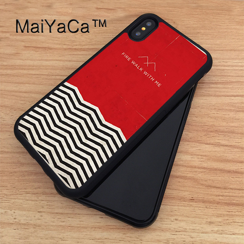 MaiYaCa Twin Peaks Soft TPU New Phone Cases For Apple iphone X Case For iPhone X Case Rubber Cover Capa