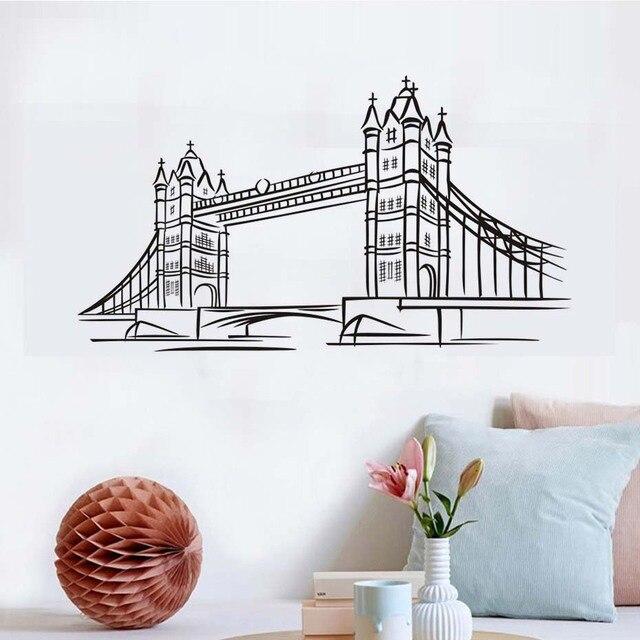 london bridge vinyl wall sticker 3d waterproof wallpaper removable