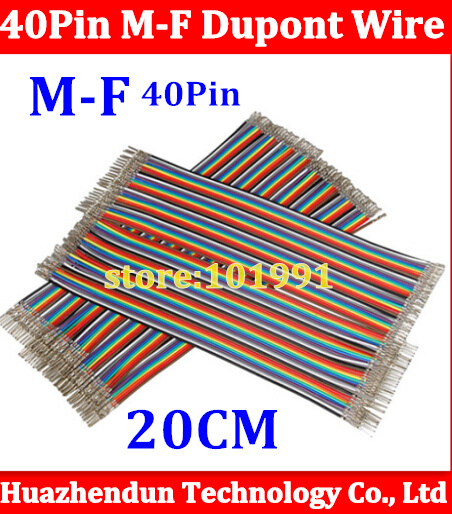 100PCS For 3D Printer 2.54mm 40pin dupont cable jumper wire dupont line male to female dupont Wire 20CM not include DuPont head free shipping 100pcs 70cm 4pin 4pin female to female jumper wire dupont cable for 3d printer
