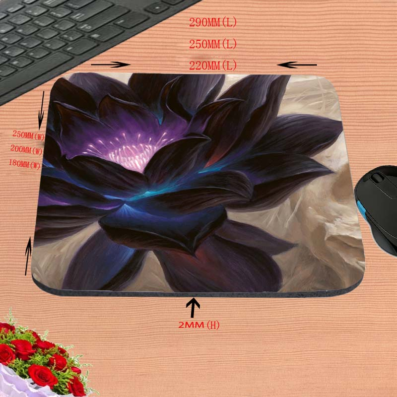 Magic The gathering black Lotus Hot Print Anti-slip New Arrival Customized Mouse Pad Computer PC Nice Gaming Mousemat As Gift