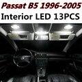 13 unids X envío libre Paquete Free Error Kit de LED Luz Interior para VW Passat B5 1996-2005