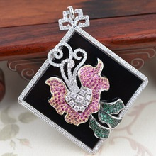 Deer king S925 sterling silver jewelry line micro mosaic style female high-end jewelry electroplating major suit