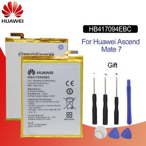 Image 1 - Hua Wei Batteria Del Telefono Originale HB417094EBC Per Huawei Ascend Mate 7 MT7 TL00 TL10 UL00 CL00 4000/4100 mAh batteria di Strumenti di Trasporto