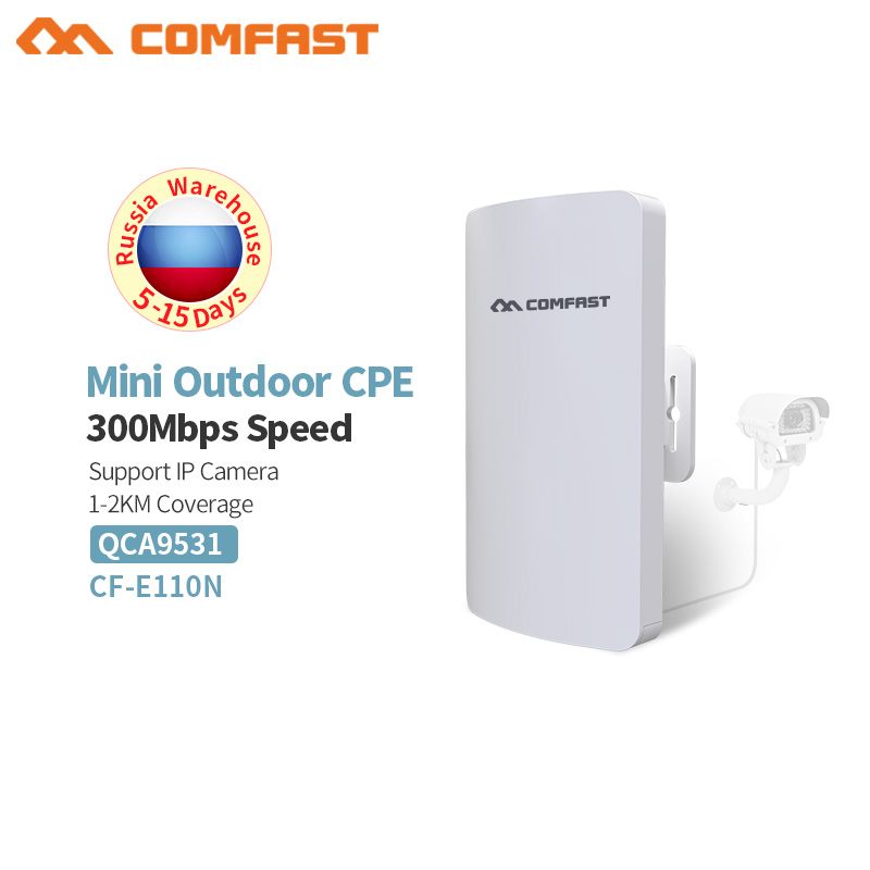 COMFAST 1-3KM Wireless Outdoor Access Point 2.4GHz 300Mbps Wi-Fi Repeater for Outdoor Long Distance Wifi Coverage,Easy Setup цена