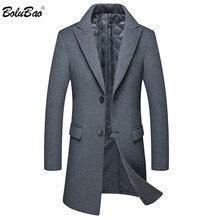 BOLUBAO Winter New Men Wool Blends Coats Men's High Quality
