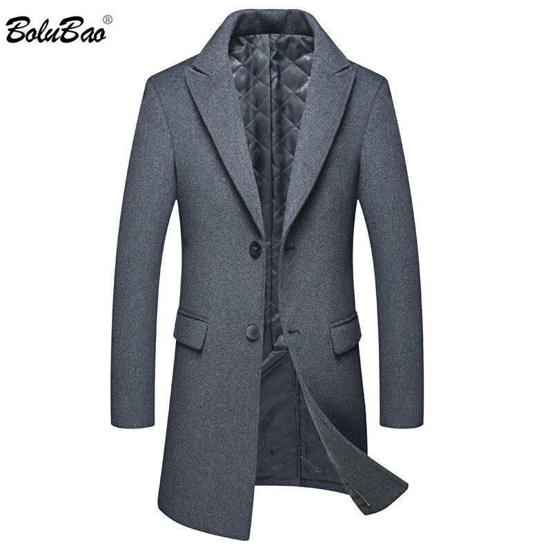 BOLUBAO Winter New Men Wool Blends Coats Men's High Quality Wool Coat Thick Slim Fit Overcoat Male Fashion Wool Blends Coat