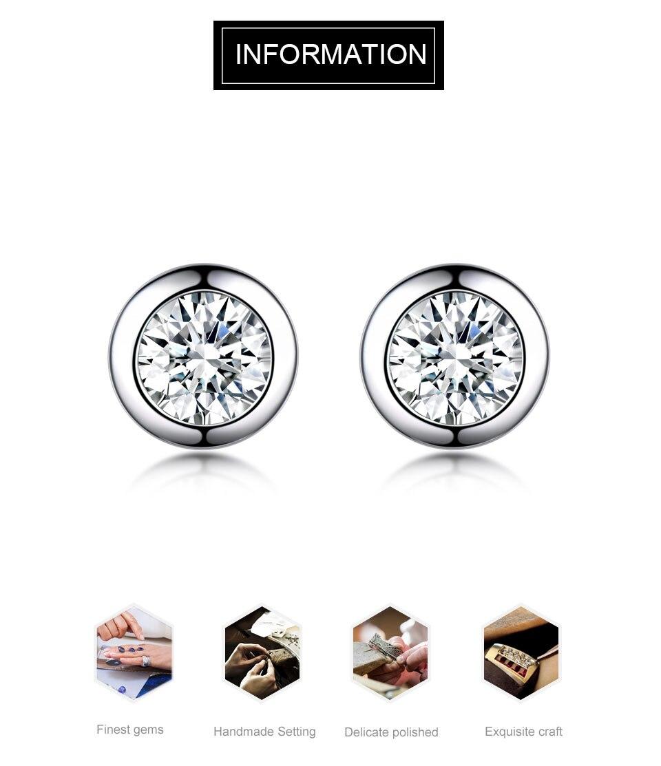 UMCHO CZ Silver sterling stud earrings for women EUJ052Z-1-pc (1)