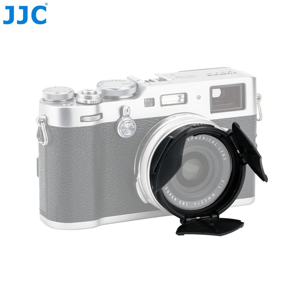 JJC X70 X100 X100S X100T X100F Kamera Auto Objektiv Kappe Selbst-Beibehaltung Schwarz Silber Automatische Protector für Fujifilm