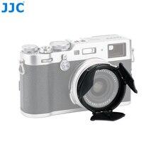 JJC מצלמה אוטומטי עדשת כובע עצמי התמך שחור כסף אוטומטי עדשת מגן עבור Fujifilm X100V X100T X100F X100S X70 x100