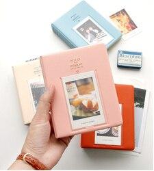 64 bolsos fujifilm instax mini filmes instax mini 9 8 7s 70 25 50s 90 peças do cartão de nome do álbum de fotos do momento