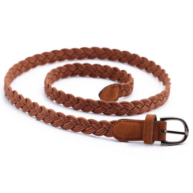 Length 102cm Womens Belt New Arrival Candy Colors Hemp Rope Braid Belt Female Belt For Dress