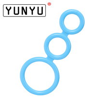 1PC Candy Color Three Cock Cages Penis Extension Rings Delay Premature Ejaculation Sex Toys for Men Ring