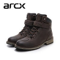 Free shipping 1pair ARCX Motorcycle Motorbike Offroad MXGP Racing Sport cowhide Leather Motorcycle Boots Shoes
