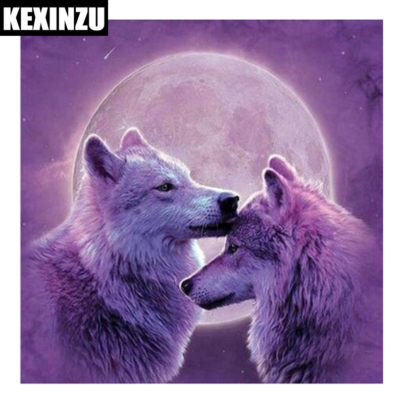Home & Garden 5d Diy Diamond Painting Lover Scenery Cross Stitch Diamond Embroidery Wolf Full Round Rhinestones Christmas Gift Arts,crafts & Sewing