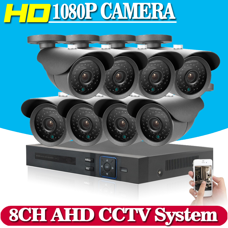 HD 8CH 1080P CCTV Security System 8PCS 3000TVL IR Outdoor AHD 1080N Video Surveillance 2.0MP Security Cameras 8 channel DVR Kit hd 8ch cctv system 720p dvr 8pcs 720p 1200tvl ir outdoor video surveillance security camera system 8 channel dvr kit