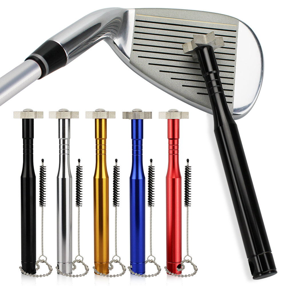 Golf Sharpener W Brush For Cleaning Golf Clubs Head Wedges And Irons Golf Grooving Tool