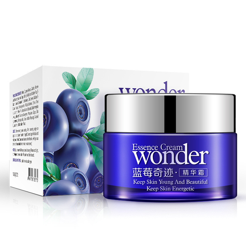 12Pcs BIOAQUA Blueberry Essence Whitening Moisturizing Day Cream Deep Hydrating Anti Wrinkle Anti-Aging Face Cream bioaqua brand skin care men deep moisturizing oil control face cream hydrating anti aging anti wrinkle whitening day cream 50g