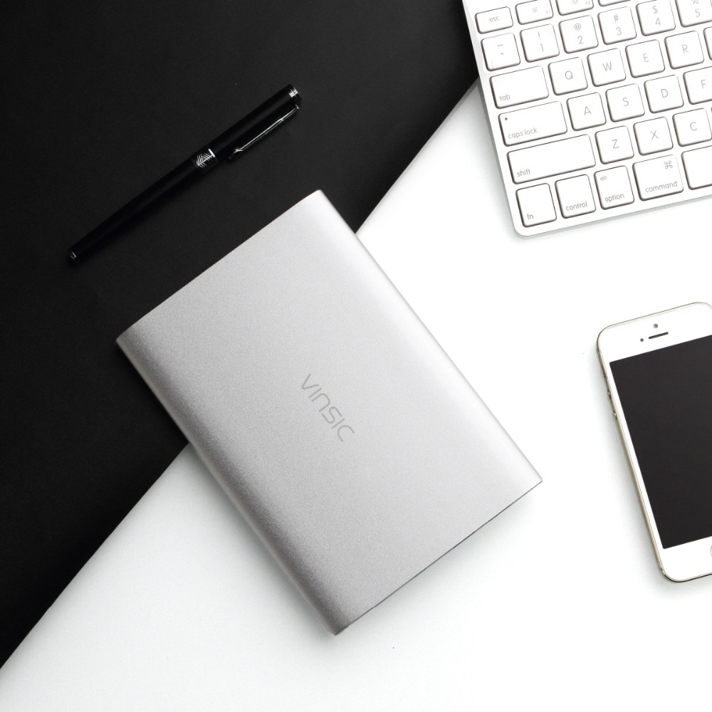 Цена за Vinsic чужеродных p2 ultra slim 2.4a/5 В 20000 мАч dual usb power bank внешнее зарядное устройство мобильного батареи для смартфонов и планшетов