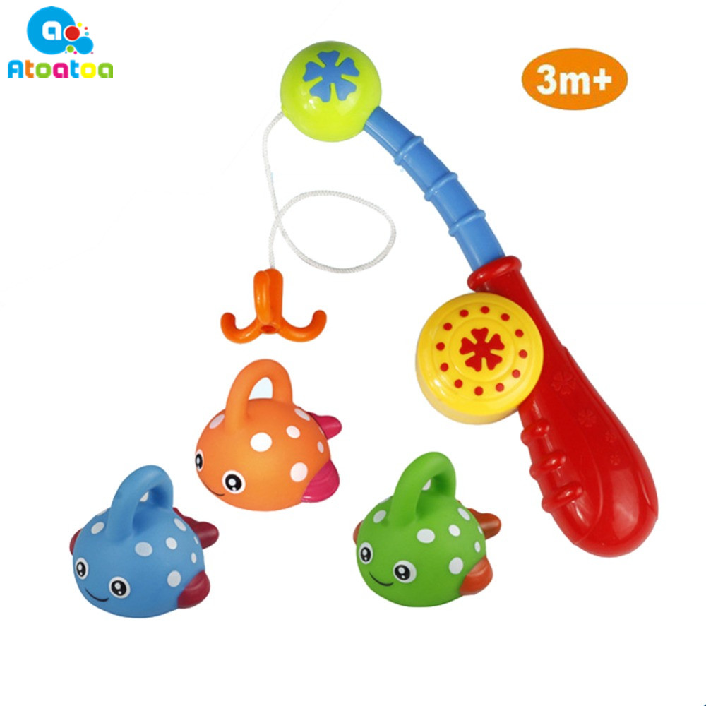 1 Set Baby Bath Toy Happy Fish Game Intellectual Toys Best Gift Fishing toys For Children Boy/Girl Gifts