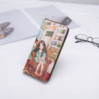 Z112 036A New Fashion Printed Cartoon Wallets Leather Purse with Bright Colors Day Clutches Women Bag