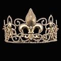Retro Oro Vetiver Iris Rhinestones Corona de La Boda Tiaras de Novia Quinceañera Pageant Hombres