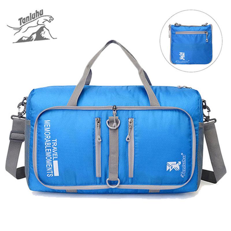 Waterproof Foldable Shoulder Sports Bag For Women Fitness Outdoor Beach Storage Bags Portable Mini Pouch Travel Bolsa XA338WD