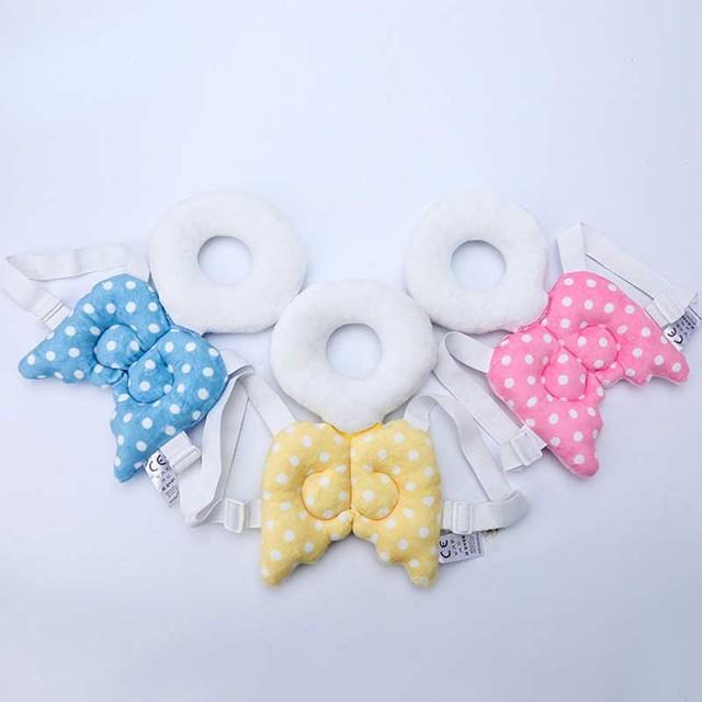 Toddler Infant Headrest Pillow Baby Head Protection Pillow Pad Cartoon Neck Nursing Drop Resistance Cushion Wings Pillows