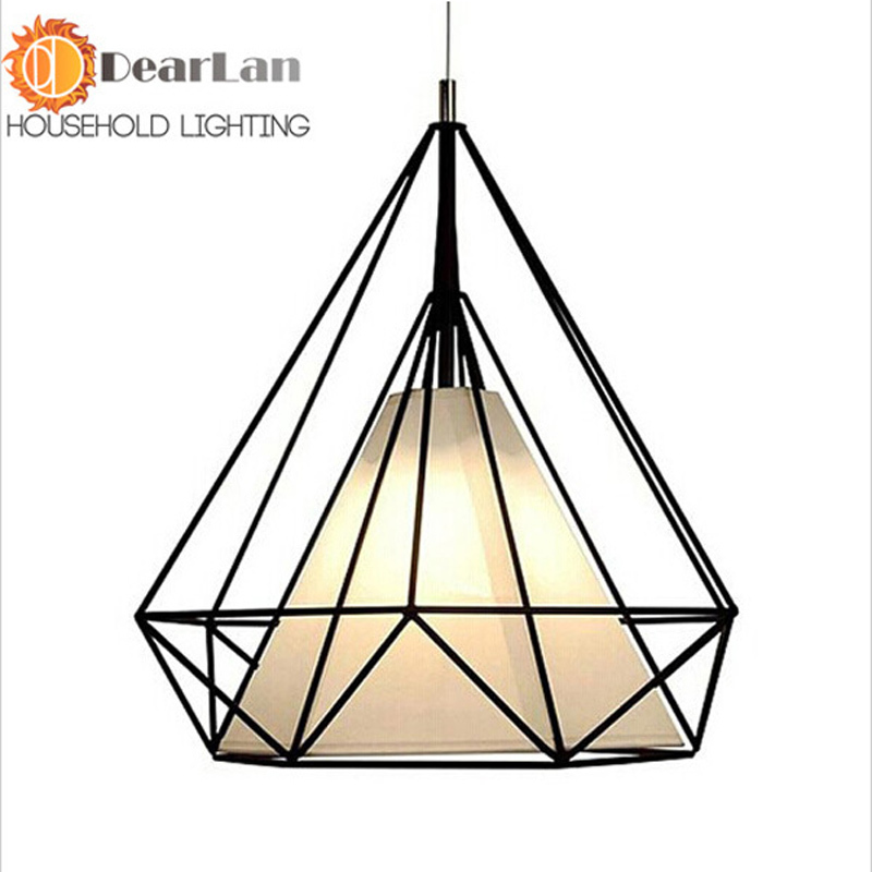ФОТО American Vintage Cage Pendant Lights Metal Lamp Holder Tungsten Light Bulb Industry Pendant Lamps Chrome Color