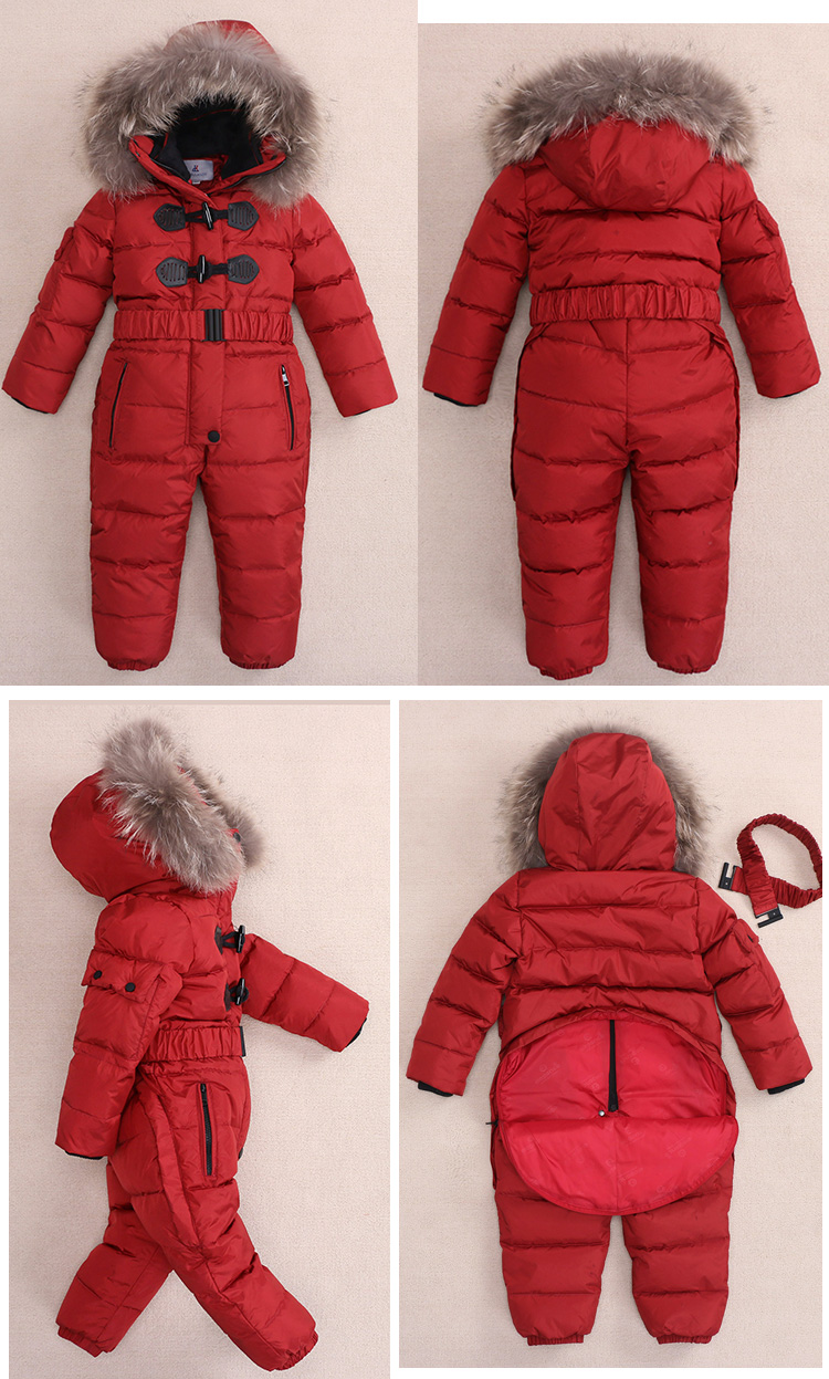 Image 5 - Children Russia Winter  30 Degree Thicken Rompers Baby Boys Warm 
