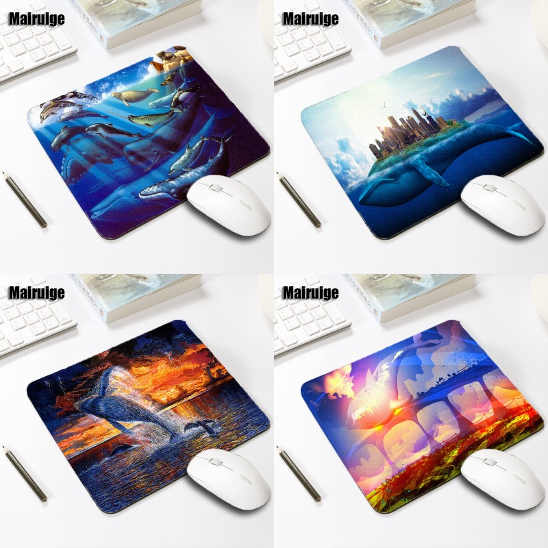 Mairuige Fantasy Sight Scenery Whale Flying In The Air Funny Pictures Mousepad Table Gaming Mat Pc Computer Laptop Mice Mats