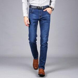 Image 5 - Sulee ماركة الرجال الجينز حجم 28 إلى 42 أسود أزرق تمتد الدنيم ملابس رجالي تلائم الرجل النحيف جان ل سروال رجالي بنطلون جينز