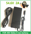 54.6V2A cargador 54.6 v 2A cargador de batería de litio bicicleta eléctrica de 48 V de litio cargador de batería Enchufe RCA 56.4V2A