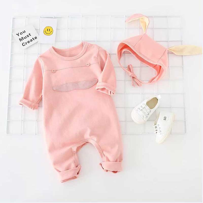 426a50b7100 2018 Fashion Newborn Romper Cute Hooded Solid Color Infant Cotton Long  Sleeve Baby Girls Baby Boys Cute Fresh Pullover Romper -in Rompers from  Mother   Kids ...