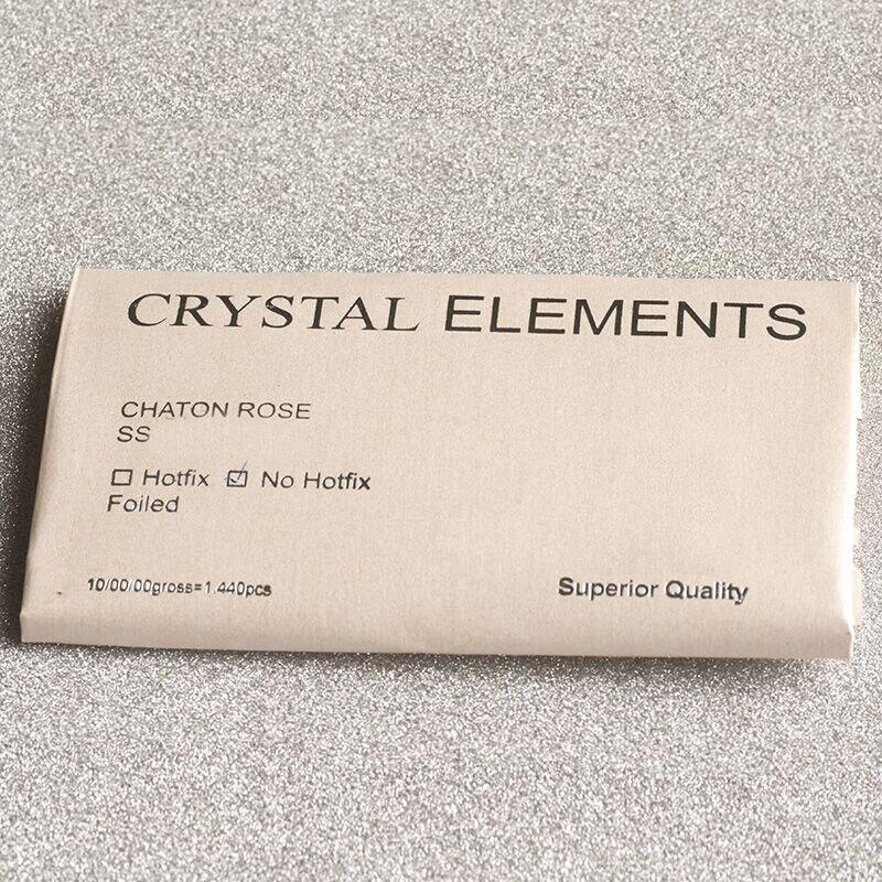 YANRUO-2088NoHF-16-Cut-Crystal-AB-SS16-SS20-SS30-Non-Hot-fix-Rhinestone-Round-Flat-back