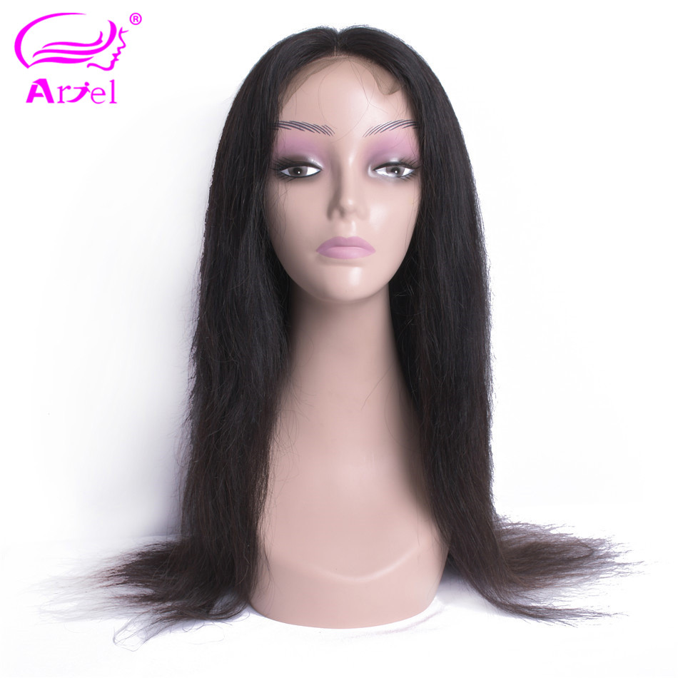 ARIEL Malaysian Lace Frontal Wig Pre Plucked With Baby Hair Remy Brazilian Straight Lace Front Human Hair Wigs For Women Black(China)
