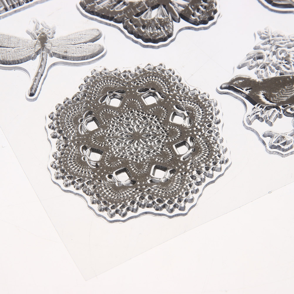 Vintage Transparent Silicone Clear Stamps for DIY Scrapbooking Photo Album Card Making Template Embossing Stamp Sheet