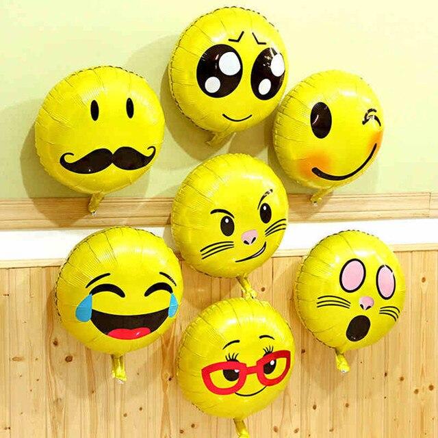 18 Zoll Aluminiumfolie Aufblasbaren Ballon Ballon Smiley Geburtstag